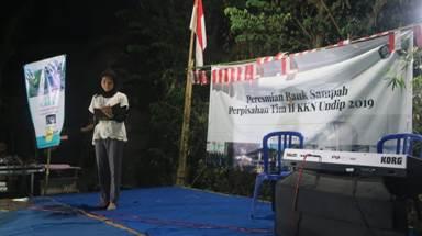 Peresmian Bank Sampah Desa Karas dan Perpisahan KKN Undip Gelombang II Tahun 2019